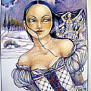 Pandora Art Print by Jackie Rock