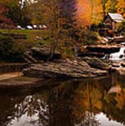 Panorama  Glade Creek Mill Art Print