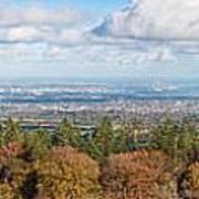 Panorama Of Dublin City And The Dublin Bay Art Print