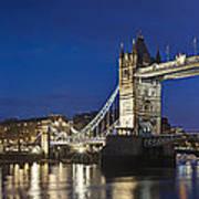 Panorama Of Tower Bridge And Tower Of London Art Print