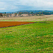 Panorama Valley Farm Art Print