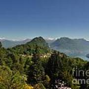 Panorama View Over Mountain Art Print