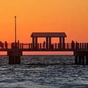 Panoramic Pier Art Print