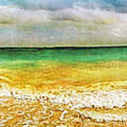 Panoramic Seaside At Tulum Art Print by Tammy Wetzel
