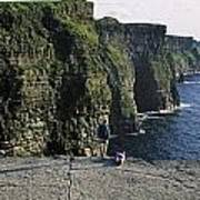 Panoramic View Of Cliffs, Cliffs Of Art Print