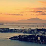 Panoramic View Of Niteroi Art Print