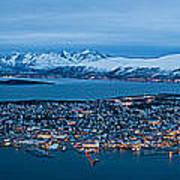 Panoramic View Of Tromso In Norway  Art Print
