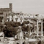 Panoramic View Via Sacra Rome Art Print