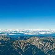 Panoramic View Zugspitze German Austrian Boarder Art Print