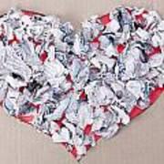 Paper Dump Heart Concept Art Print