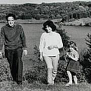 Pappa Hans Mama Chris Colette 1960 Dollerup Hills Denmark Art Print