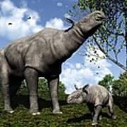 Paraceratherium, Artwork Art Print