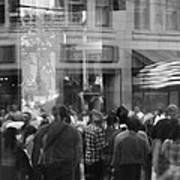 Parade Crowd Reflected Art Print