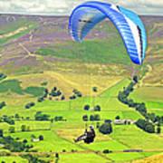 Paragliding Off Mam Tor 01 Art Print