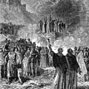 Paris: Burning Of Heretics Art Print