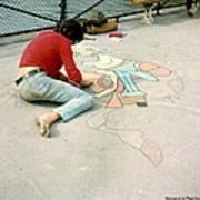 Paris Chalk Art 1964 Art Print