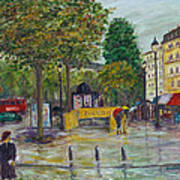 Paris In The Rain Art Print