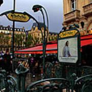 Paris Metro 1 Art Print