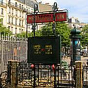 Paris Metro 3 Art Print
