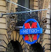 Paris Metro 5 Art Print