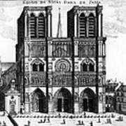 Paris: Notre Dame, 1600s Art Print