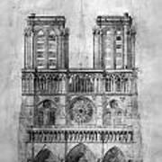 Paris: Notre Dame, 1848 Art Print