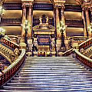 Paris Opera House Vii  Grand Stairway Art Print