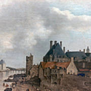 Paris: Pont Neuf, 1637 Art Print