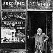 Paris: Restaurant, 1890s Art Print
