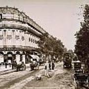 Paris: Street Scene, 1890 Art Print