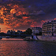 Paris Sundown Art Print