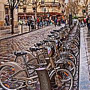 Paris Wheels For Rent Art Print