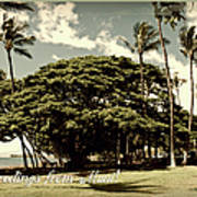 Parkside Postcard Art Print