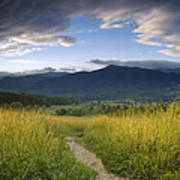 Parting Clouds At The Smokies Art Print by Andrew Soundarajan