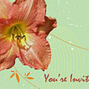 Party Invitation - Orange Day Lily Art Print