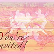 Party Invitation - General - Wild Azalea Blossoms Art Print