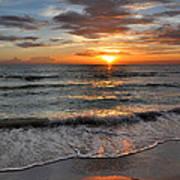 Pass-a-grille Beach Sunset Art Print