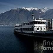 Passenger Ship On The Lake Art Print