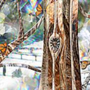 Passing Through Air Art Print by Leslie Kell
