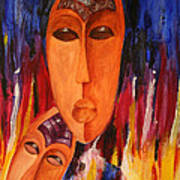 Passion 2007 Art Print by Simona  Mereu