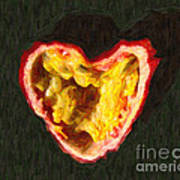 Passion Fruit Art Print by Wingsdomain Art and Photography