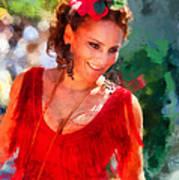 Passionate Gypsy Blood. Flamenco Dance Art Print
