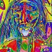 Pastel Man 16 Art Print