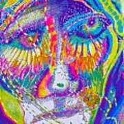 Pastel Man 23 Art Print