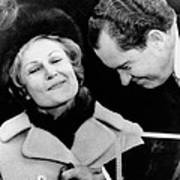 Pat Nixon Grasps Her Husbands Hand Art Print by Everett