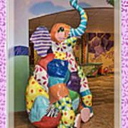 Patchwork Elephant Art Print