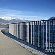 Path On An Alpine Lakefront Art Print