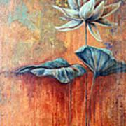 Patina Lotus Art Print