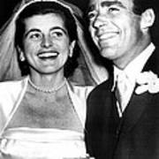 Patricia Kennedy Lawford And Husband Print by Everett