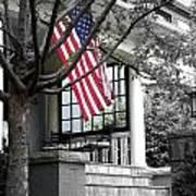 Patriot Porch Art Print